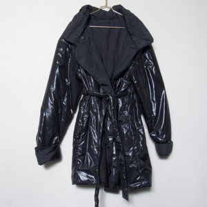 VINTAGE Chic Black Puffer Coat Jacket Outerwear